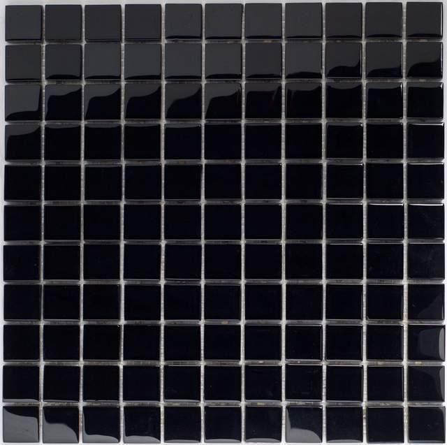 Mozaika Szklana Czarna